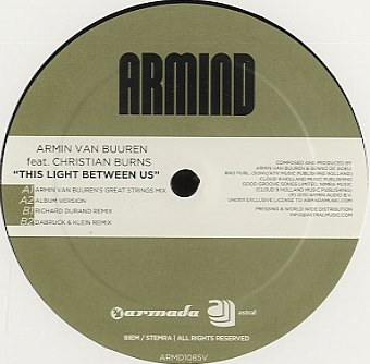 This Light Between Us Armin van Buuren feat. Christian Burns